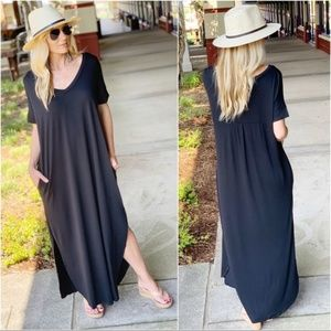 ❤️Black Loose Fit Maxi with Pockets